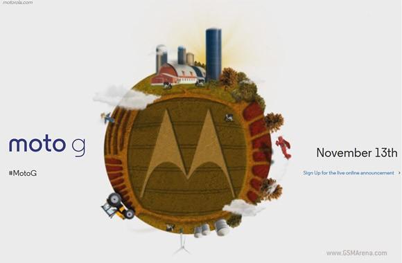 Официально: анонс смартфона Motorola Moto G состоится 13 ноября