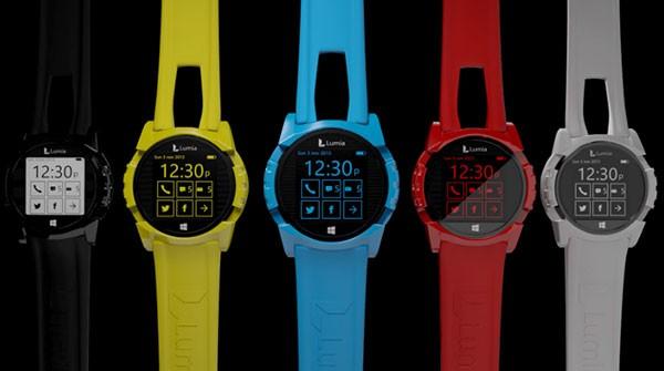 Концепт смарт-часов Microsoft Lumia Smartwatch, веселенький, но функциональный