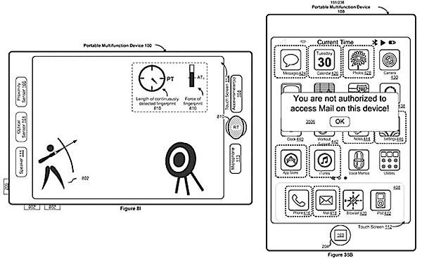 Apple патентует мобильный трекпад и сканер отпечатков на всем дисплее