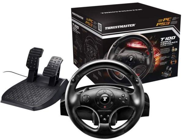 Руль Thrustmaster T100 FFB для геймеров-гонщиков
