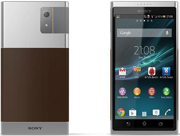 Концепт безымянного смартфона Sony в новом дизайне