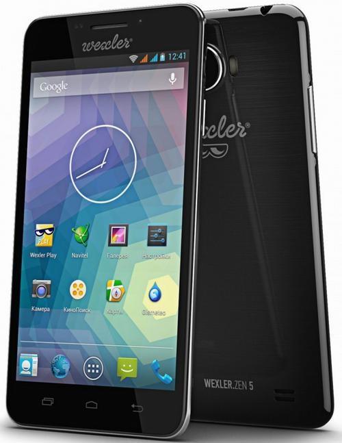 Смартфон Wexler.ZEN 5 с поддержкой Full HD-разрешения