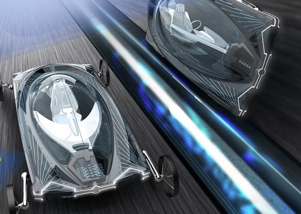Концепт магнитолевитирующего электромобиля AKA24