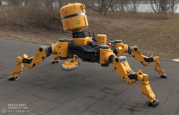 Концепт робота-дворника Recycle Bot