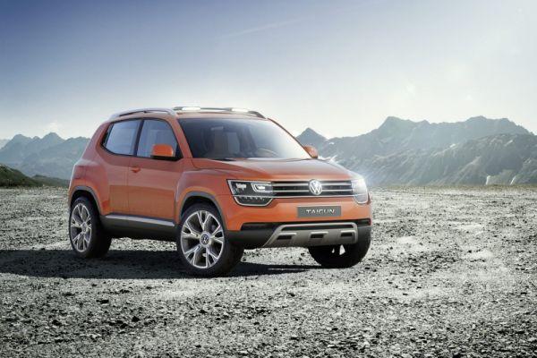 Концепт нового Volkswagen Taigun показан на автошоу в Нью-Дели