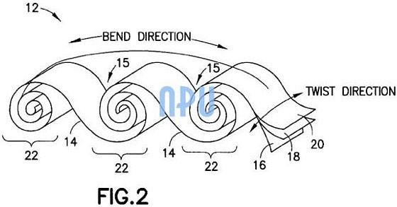 Nokia патентует скручивающийся аккумулятор