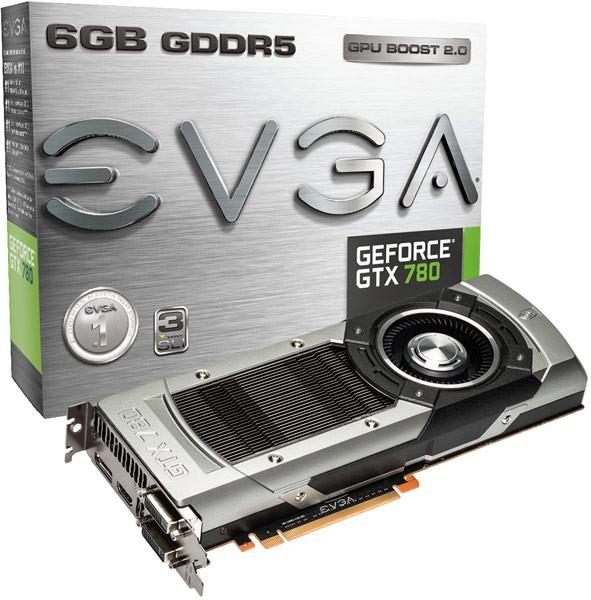 6 гигабайтов памяти в видеокартах EVGA GeForce GTX 780