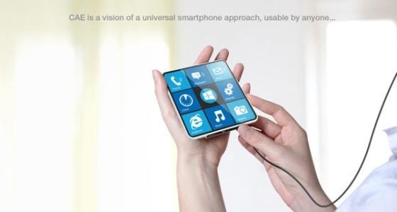 Концепт смартфона CAE Blind для слепых и зрячих