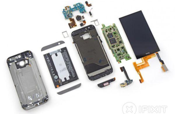 Команда iFixit разобрала смартфон HTC One (M8)