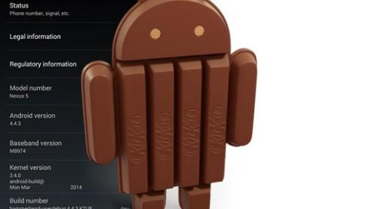 Android 4.4.3 вышла для Nexus 5