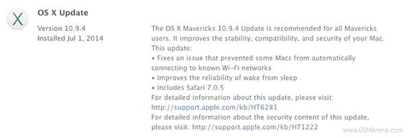 OS X 10.9.4