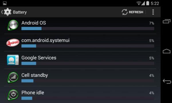 Сервисы гугл сажают батарею 36