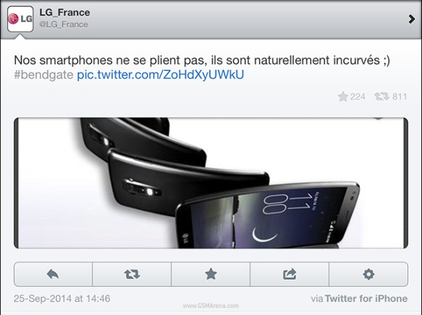 LG G Flex и iPhone 6