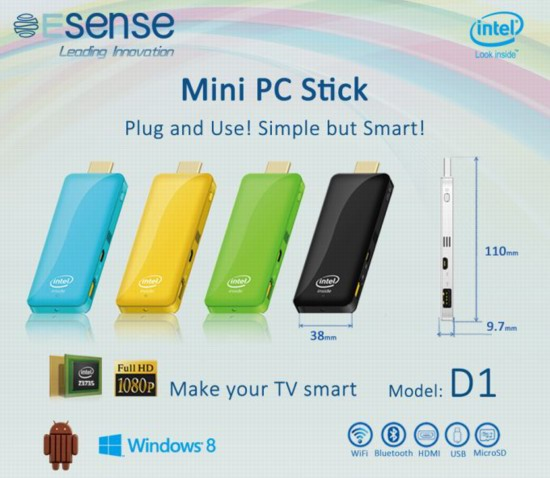 Esense Mini PC Stick D1