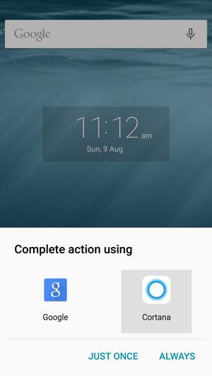 Главным новшеством стало то, что теперь Cortana можно установить в качестве  основного голосового помощника, то есть теперь приложение может заменить  штатный ... 3fb3028d418