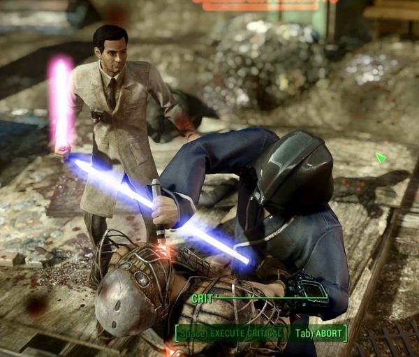 В Fallout 4 стали доступны световые мечи из