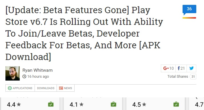Google Play 6.7