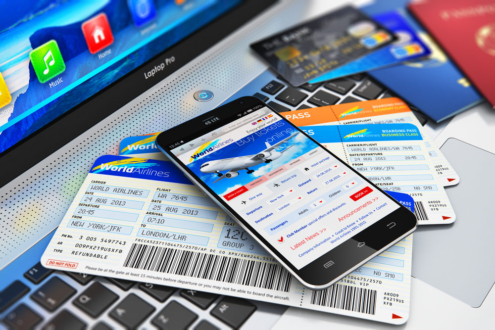 Buying air tickets online via s