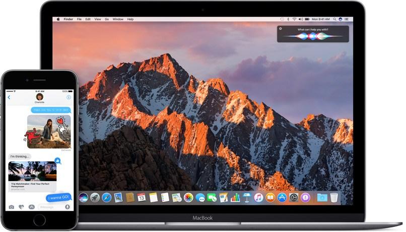 iOS 10 и macOS Sierra