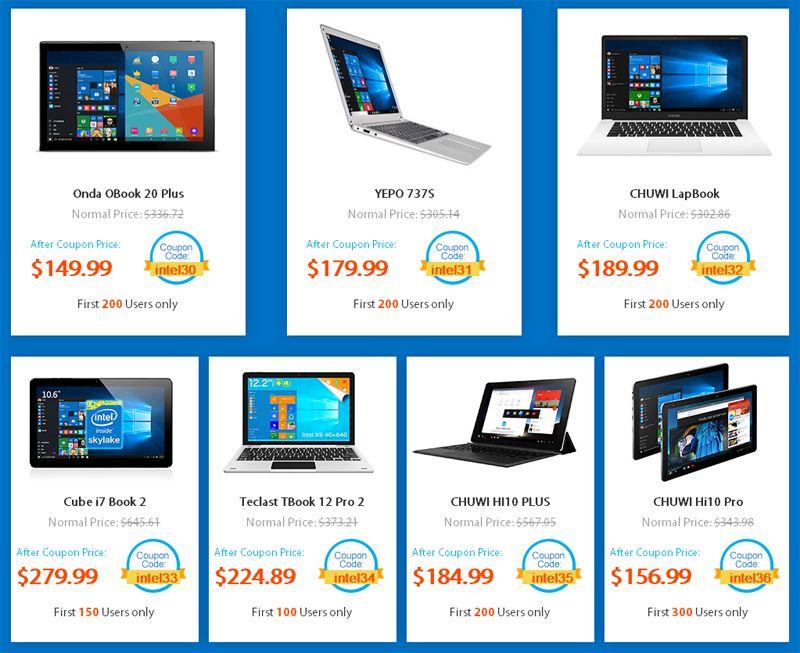 Распродажа Intel в GearBest