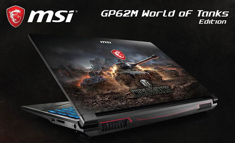 MSI GP62M World of Tanks Edition