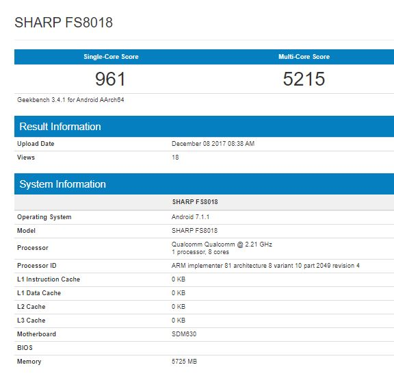Sharp FS8018