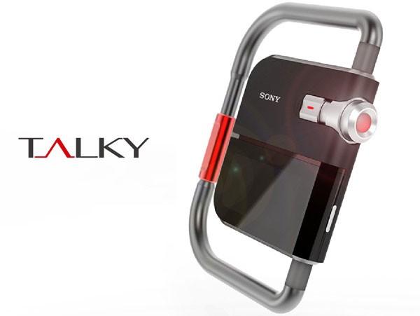 Концепт простой, но красивой рации Sony Talky