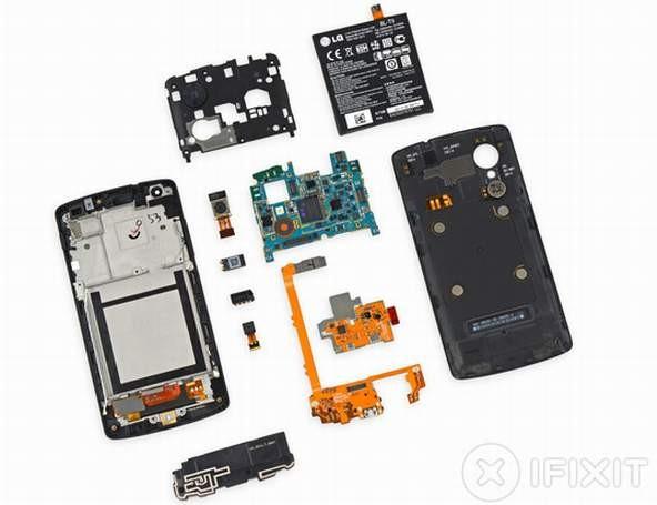 Смартфон Nexus 5 разобрали за несколько минут