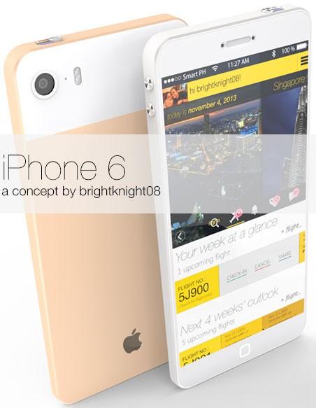 Концепт iPhone Air в корпусе клинообразной формы