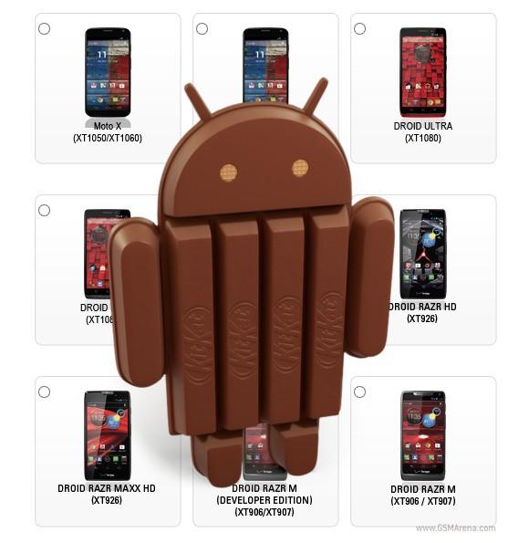 10 смартфонов от Motorola получат Android 4.4 KitKat