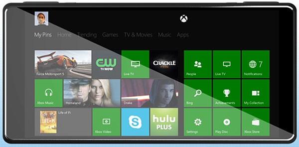 Концепт игрового смартфона Xbox One