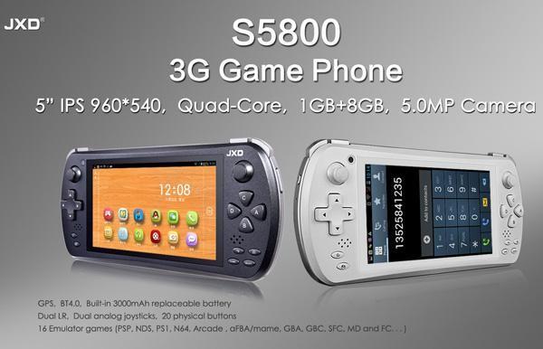 Представлен мощный и недорогой игровой смартфон JXD S5800