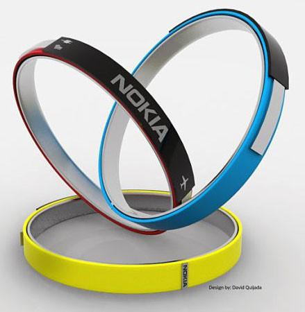 Концепт стильного электронного браслета Nokia Lumia 101