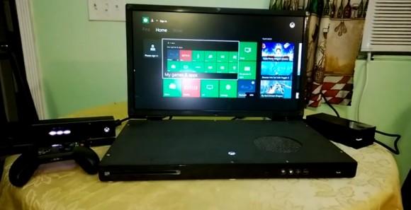 Приставку Xbox One превратили в ноутбук