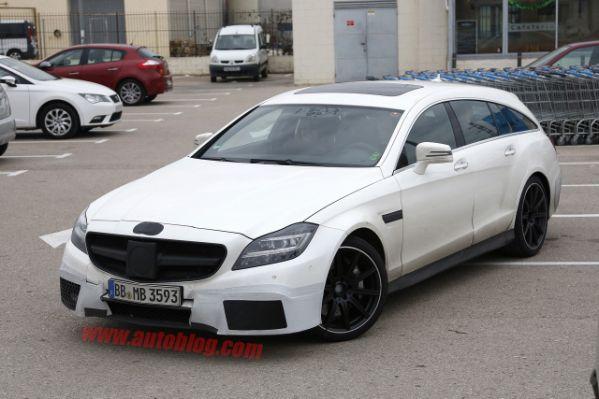 Заряженный универсал Mercedes-Benz CLS63 AMG показался на «живых» фото