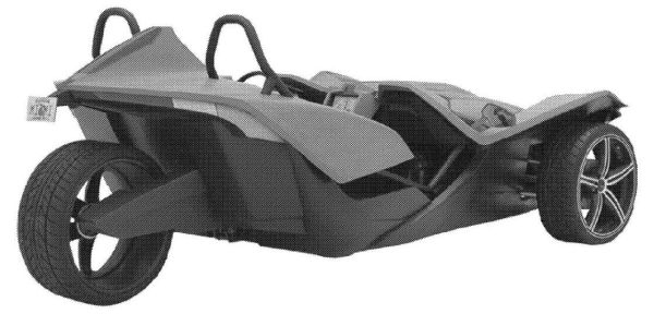 Трехколесный автомобиль Polaris Slingshot засветился на рендерах