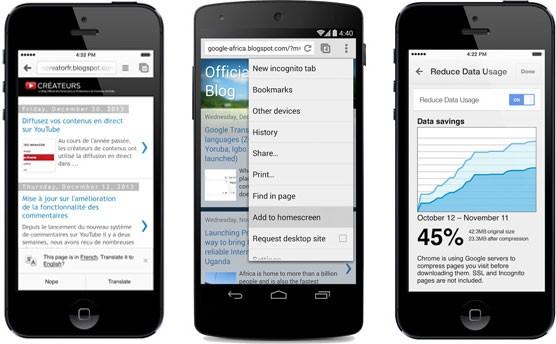 Chrome запустил сжатие трафика на мобильных устройствах