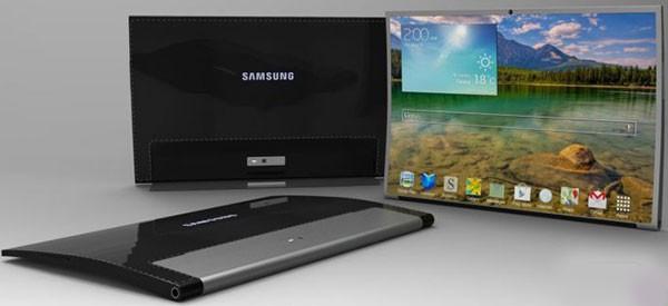 Концепт вогнутого планшета Samsung Tab Round