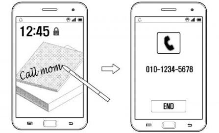 Galaxy Note 4 может набрать номер, который вы напишите на его дисплее