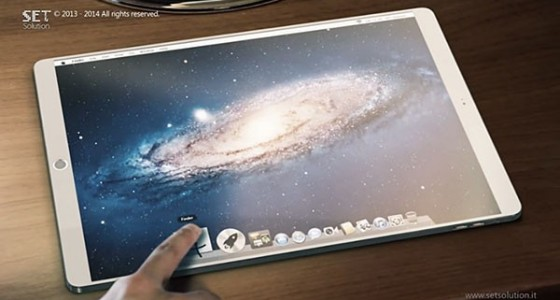Концепт 13-дюймового iPad pro с Mac OS X на борту