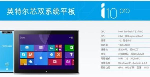 Ramos начала поставки планшета i10 Pro с двумя ОС