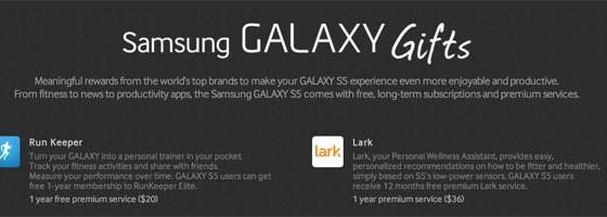 В комплекте с Samsung Galaxy S5 поставляется контент на $575