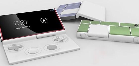 Концепт модульного геймпада Flippypad для смартфона Google Project Ara