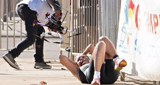 Упавший беспилотник травмировал спортсменку в Австралии