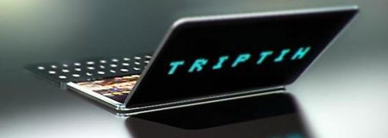 Концепт тройного телефона Triptih
