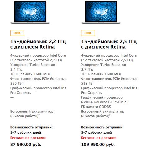 Apple обновила MacBook Pro с Retina