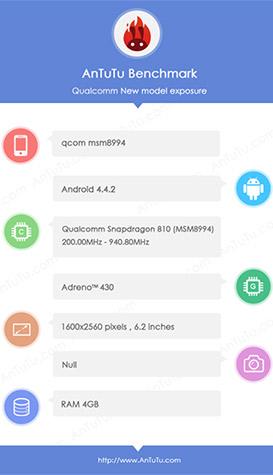 Бенчмарк Snapdragon 810