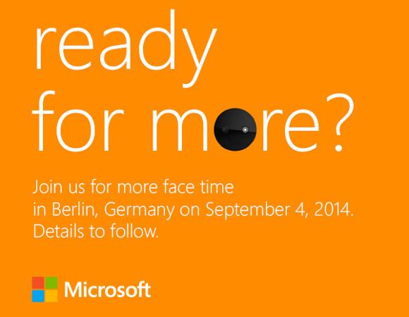Приглашение Microsoft на IFA 2014