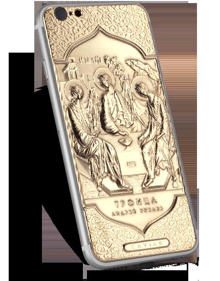 православный iPhone 6 с золотым изображением иконы