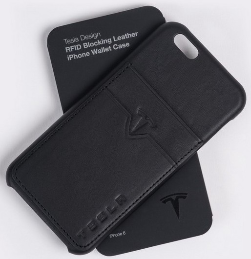 Tesla Leather Wallet Case